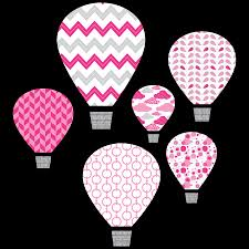 Pink Hot Air Balloons Textstyles Canvas Wall Decal Wallquotes Com