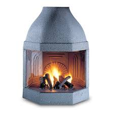 wood burning fireplace insert with cast