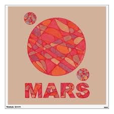 Mars The Red Planet Space Geek Solar System Fun Wall Sticker Art Wallart Mars Journeytomars Outerspace Plane Wall Decal Sticker Wall Stickers Wall Decals