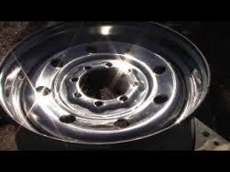 polish steel rim to mirror finish
