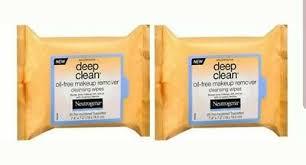 lot of 2 neutrogena deep clean oil