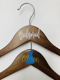 Bridesmaid Hanger Decal Bridal Hanger Decal Decals For Etsy