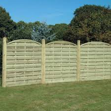 Arched Horizontal Fence Panel 1 8m Wooden Supplies