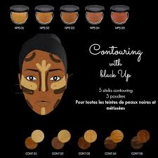 contouring with the brand black up on