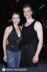Emma Samms and Adam Cooper press night of shall we dance at the saddlers  wells theatre Stock Photo - Alamy