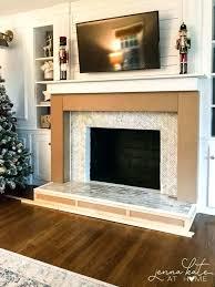 cover brick fireplace kanawa biz