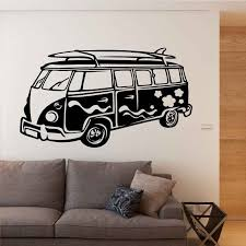 Removable Wall Sticker Camper Wall Decal Travelling Bus Wall Art Mural Home Living Room Wallpaper Vinyl Car Sticker Decor Ay832 Wall Stickers Aliexpress