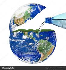 Planet Earth With A Water Bottle On White Background Stock Photo C Photobeps 184749302