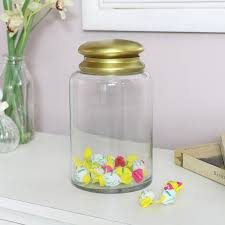 tall glass sweet jar with lid melody