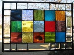 granny squares stained glass window