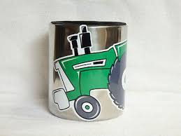 Oliver Tractor Magnetic Stainless Steel Cup Holder Vinyl Decal Ebay