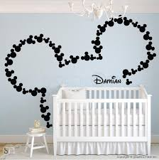 Mickey Mouse Ears With Personalized Baby Name Disney Inspired Wall D Graphicsmesh
