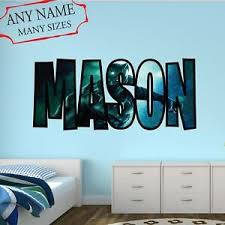 Custom Name Black Panther Wall Decal 3d Wall Art Bedroom Decor Cd13 Ebay