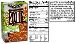 great value vegetable soup nutritional