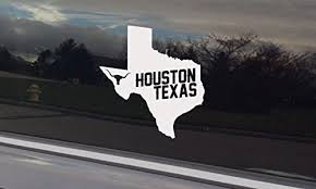 Amazon Com Houston Texas Decal Sticker For Car Window Or Bumper Placement Handmade