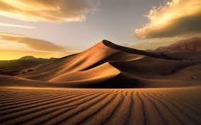 تحميل خلفيات الصحراء مساء غروب الشمس الكثبان الرملية الرمال
