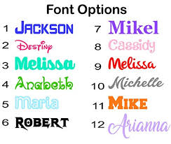 Name Or Word Decal Sticker For Tumblers Water Bottles Car Windows Laptops Gloss Colors