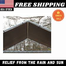Outdoor Dog Kennel Cover Cage 10 X 10 Ft Large Roof Pet House Steel Shade Fence Ebay