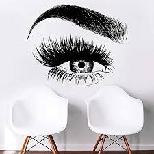 Amazon Com Eyelashes Decal Eyelashes Eye Wall Decal Eyelashes Eye Wall Sticker Girls Eyes Eyebrows Wall Decor Beauty Salon Decal Make Up Wall Decor Kau 406 Handmade