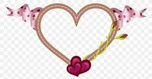 heart love picture frame png