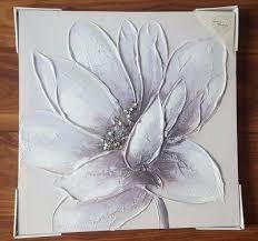 lilac purple silver diamante flower