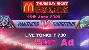 Panthers vs Rabbitohs 9Gem Ad 25th June ...