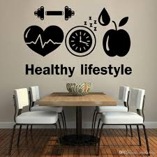 Healthy Lifestyle Vinyl Wall Decal For Company Sports Motivation Diet Gym Wall Stickers Modern Dining Room Decoration Decor Wall Sticker Decor Wall Stickers From Joystickers 10 85 Dhgate Com