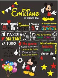 Pin De Dely Perez Santillan En 1 Ano Amir Fiesta De Mickey