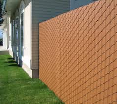 Vinyl Wood Privacy Link Chain Link Fence With Privacy Slats