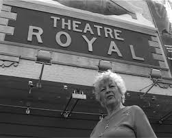 Hilda Kennedy outside the Theatre Royal, Stratford, 2006