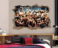 Wwe Wrestlers 3d Smashed Broken Decal Wall Sticker H824 Decalz Co