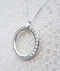 9ct gold circle of love life necklace