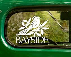 Amazon Com 2 Bayside Decal Rock Band Stickers White Die Cut For Window Car Jeep 4x4 Truck Laptop Bumper Rv Home Kitchen