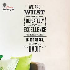 We Are What We Repeatedly Do Wall Sticker Shopee Philippines