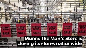 munns menswear 100 years old to close