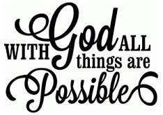 With God All Things Are Possible Wall Decal Philippians 413 Creations