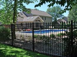 Black Wrought Iron Fence Around Pool Iron Fence Wrought Iron Fences Fence Design