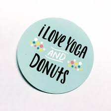 Yoga And Donuts Window Cling Car Window Decal Gifts For Etsy