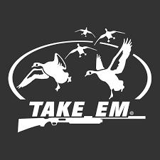 Take Em Goose Waterfowl Window Decal