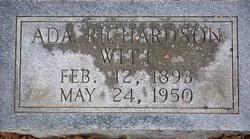 Ada Belle Richardson Witt (1893-1950) - Find A Grave Memorial