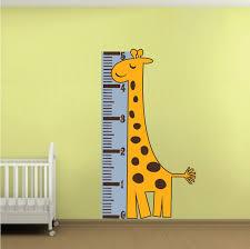 Giraffe Measuring Chart Wall Decal Nursery Wall Decal Murals Primedecals