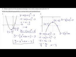 quadratics in vertex and standard form
