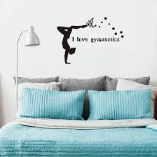 Shop Gymnastic Pattern Wall Stickers Removable Art Decals For Living Room Bedroom Black Overstock 29552494