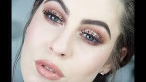 bronzed eye lip makeup tutorial