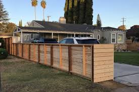 Wooden Horizontal Slat Fence Remodeling Contractors