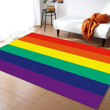 Stripes Colorful Rainbow Flag Lgbt Carpets For Living Room Bedroom Area Rug Kids Room Play Mat 3d Printed Home Large Carpet Carpet Aliexpress