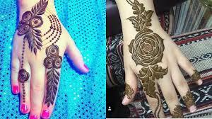 mehndi design arabic rose