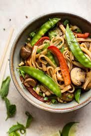 vegan rice noodles salt lavender