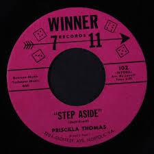 PRISCILLA THOMAS: Step Aside / Sympathy 45 (pink dice, xol ...