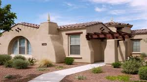 spanish style house exterior paint see